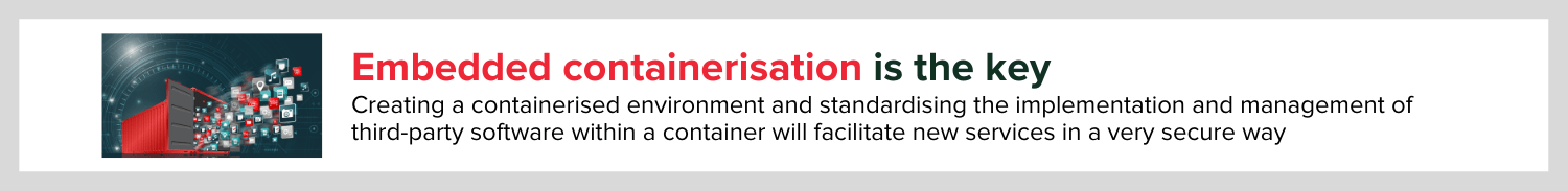 embedded containerisation is key to accelerating development of a smart router say consult red